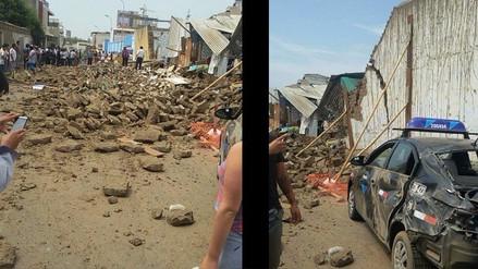 Pared se desploma en centro histórico de Trujillo