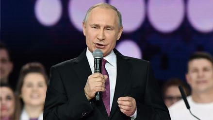 Putin anunció su candidatura a la reelección en las presidenciales de 2018