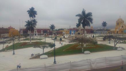 Nuevo piso de la plaza de armas de Trujillo estará listo a fin de mes