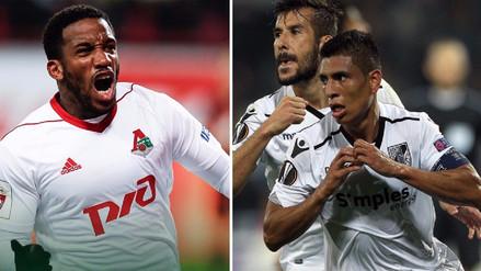 Jefferson Farfán clasificó y Paolo Hurtado fue eliminado de la Europa League