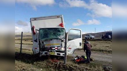 La Oroya: choque entre dos camiones dejó un herido en la Carretera Central