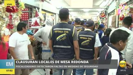 La Municipalidad de Lima cerró 18 tiendas de Mesa Redonda por inseguras
