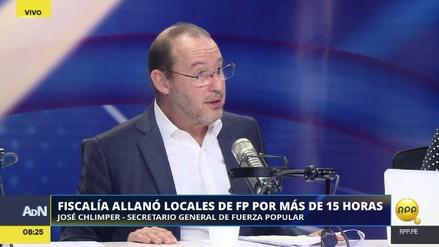"""José Chlimper: """"El allanamiento fue innecesario. Si tenían dudas, ya las aclararon"""""""