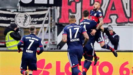 Bayern Munich ganó en Frankfurt con gol de Arturo Vidal y es campeón de otoño