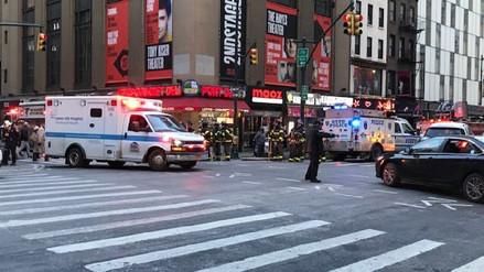 Cuatro heridos tras explosión en terminal de buses en Manhattan