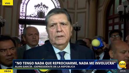 """Alan García: """"A mis adversarios les duele aceptar que hay un presidente que no se vende"""""""