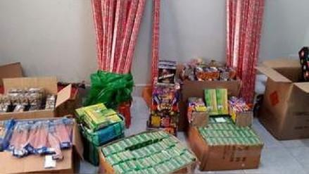 Chimbote: decomisan 600 kilos de productos pirotécnicos de talleres clandestinos