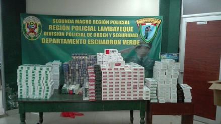 Decomisan cigarrillos de contrabando valorizado en 60 mil soles