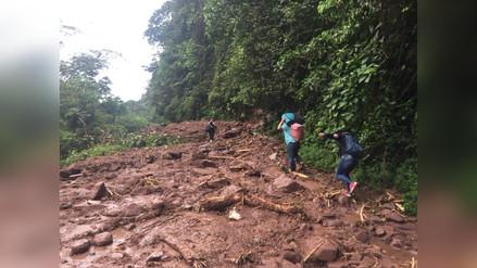 Oxapampa: Fuertes lluvias ocasionan derrumbe en la Carretera Belaúnde Terry