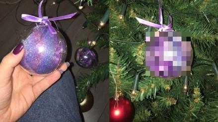 Las bolas de este árbol de Navidad no eran lo que todos pensaban