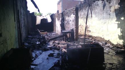 Chulucanas: cuatro viviendas afectadas por incendio en taller de pirotécnicos