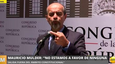 """Mulder: """"Si PPK no presenta su renuncia, nos sumaremos al pedido de vacancia"""""""