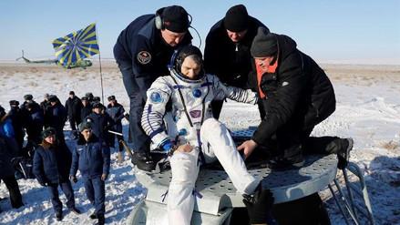 La nave tripulada rusa Soyuz MS-05 aterrizó en la estepa kazaja