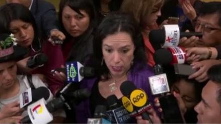 """Marisa Glave: """"La crisis política no se puede solucionar en 24 horas"""""""