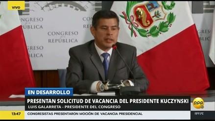"""Galarreta: """"Si la moción se admite hoy, el debate de la vacancia será el jueves"""""""