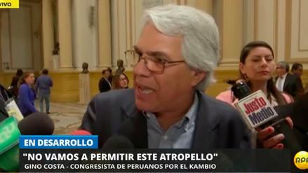 """Gino Costa tras pedido de vacancia: """"En cinco días, quieren meterle una patada al presidente"""""""