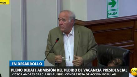 """García Belaúnde: """"No nos precipitemos. Está en juego la salud moral de la República"""""""