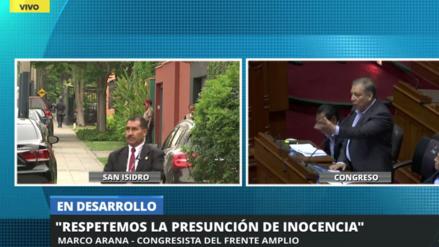 """Marco Arana: """"A pesar de que PPK haya mentido seis veces, respetaremos la presunción de inocencia"""""""