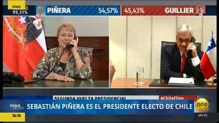Michelle Bachelet felicitó a Sebastián Piñera a través de una videollamada