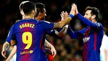 Barcelona goleó al Deportivo La Coruña y sigue en la cima de La Liga