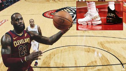 Lebron James utilizó sus zapatillas para protestar contra Trump en la NBA