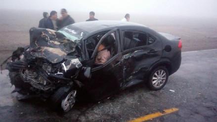Un muerto y siete heridos dejó accidente de tránsito en Arequipa