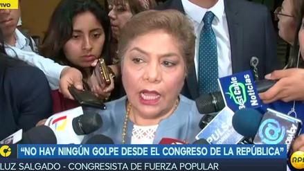 """Luz Salgado: """"Lo más conveniente es que el vicepresidente Vizcarra viaje ya al Perú"""""""