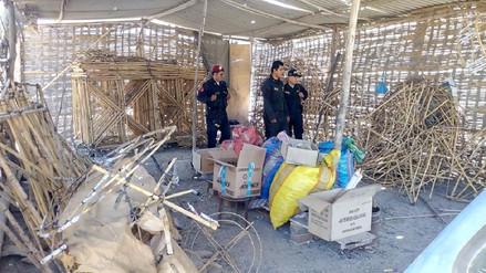 Intervienen almacenes clandestinos de pirotécnicos en La Tinguiña