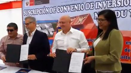 Minedu firma convenio con Banco de Crédito para construcción de COAR Lambayeque