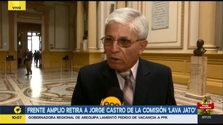 Jorge Castro dijo que Arana le pidió retroceder en sus investigaciones a la Fiscalía