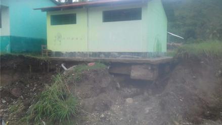 Crecida de río Perené inundó colegio Pucharini en Chanchamayo