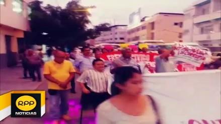 Piuranos participaron de una marcha contra la corrupción