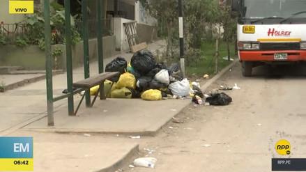 Vecinos de Villa María del Triunfo denuncian acumulación de basura