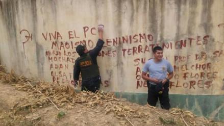 Aparecen pintas con presunta connotación terrorista en Huarmaca