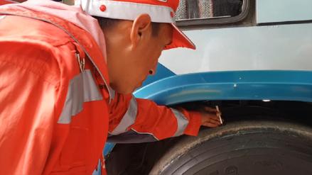 Sutran inspeccionó vehículos en Terminal Terrestre de Huancayo