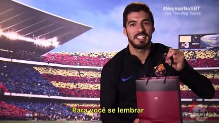 Luis Suárez pone en aprietos a Philippe Coutinho con regalo del amigo secreto