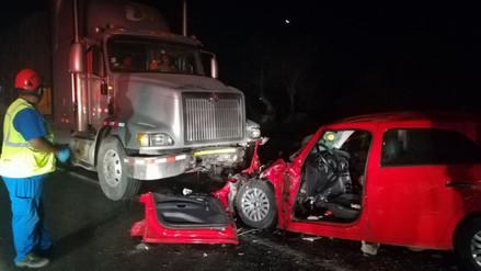 Una mujer falleció en un accidente de tránsito en la Panamericana Norte