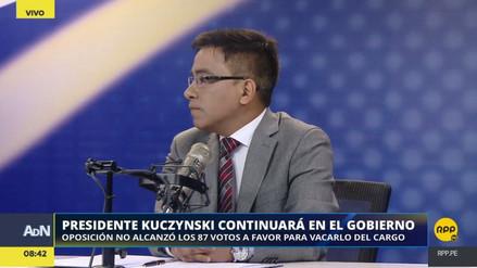 """Vieira sobre fujimoristas que no apoyaron la vacancia: """"Es la nueva bancada de Kenji"""""""