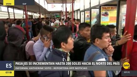 El precio de los pasajes interprovinciales subió hasta en 500% a pocas horas de la Navidad