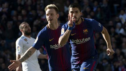 El contragolpe memorable que culminó Luis Suárez para romper el cero en el Clásico