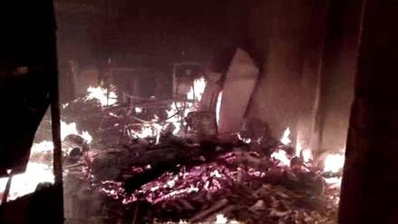 Nuevo Chimbote: niños provocan incendio cuando jugaban con pirotécnico