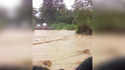 Incremento del río Shankivironi interrumpe pase de vehículos en Chanchamayo