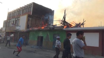 Dos incendios generaron zozobra y pérdidas materiales en Áncash