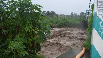 Satipo: agricultor desaparece tras incremento del río Sonomoro
