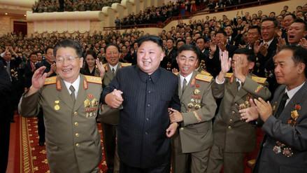 Corea del Norte recibió el Año Nuevo 107
