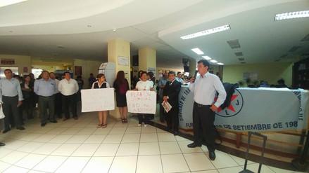 Trabajadores paralizaron labores en Poder Judicial de Lambayeque