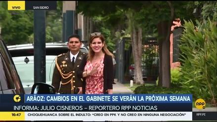 Mercedes Aráoz confirmó que la próxima semana estará listo el nuevo Gabinete