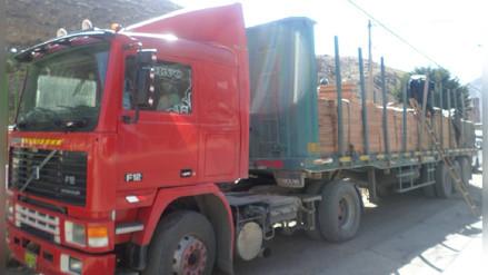 Decomisan más de seis mil pies de tablares de madera en La Oroya