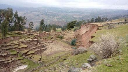 Falla geológica en suelos afecta a pobladores de Chilques en Ayacucho
