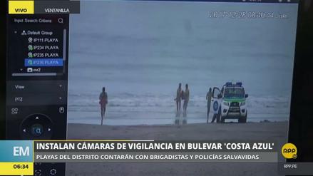 Ventanilla: instalaron cámaras de vigilancia en la playa Costa Azul